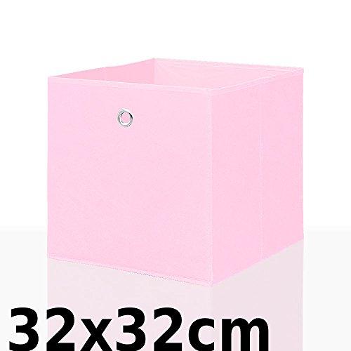 Faltbox Faltkiste Regalkorb Regalkiste Regalbox Aufbewahrungsbox Spielkiste Staubox Korb, Farbe:pink 32*32