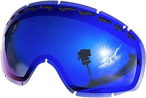 Lentes de repuesto para Oakley Crowbar–Gafas para la nieve, Blue Mirror