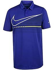 Nike Victory Graphic Camiseta Polo de Golf, Niño, Morado, XL