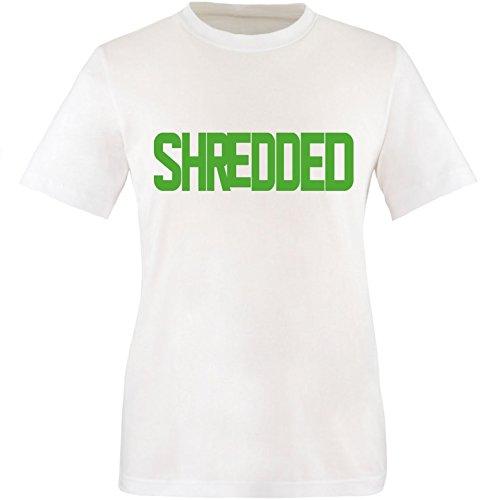 EZYshirt® Shredded Herren Rundhals T-Shirt Weiß/Grün