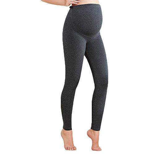 Umstands Leggings Umstandshose Jogginghose Schwangerschaftsleggings Skinny Hosen Wärmend Leggings Hose Grau XXL/70kg Kootk (Yoga-hose Besten)