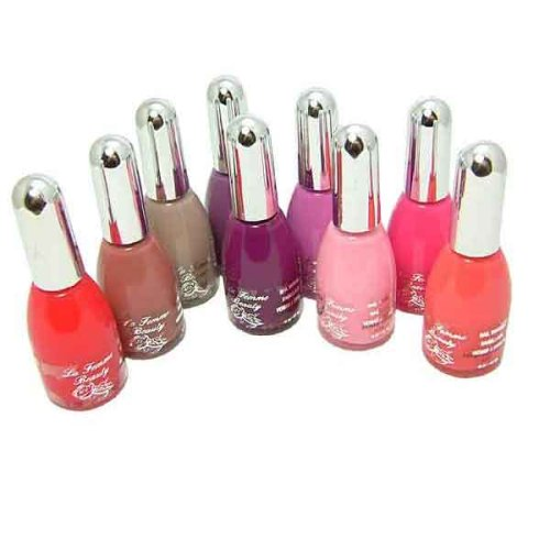 La Femme Lot de 9 vernis brillant nuances