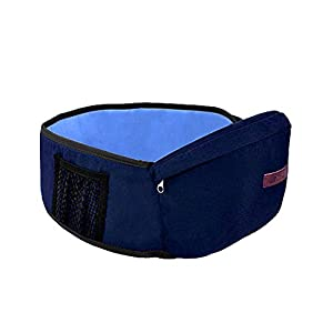 Baby Hip Seat Carrier Toddler Waist Belt with Adjustable Strap and Mesh Pocket Baby Carrier Baby Hipseat(Blue)   10