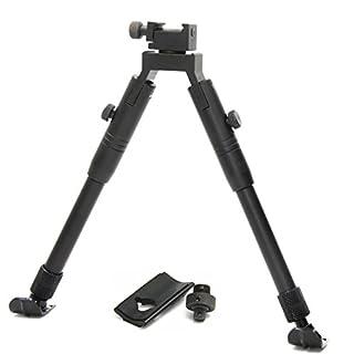 JINSE Tactical Airsoft Sniper Bipod Zweibein Softair Ständer Picatinny Rail Schwenken Einklappbar Einstellbare 9 bis 11 Zoll Stahlder Ständer