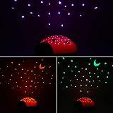 ANSMANN LED Sternenhimmel Projektor Marienkäfer – Einschlafhilfe mit Farbspiel – Nachtlicht mit Sensor Touch als Kinderlampe Kinderlicht Nachttischlampe Nachtlampe für Baby & Kind im Kinderzimmer - 5