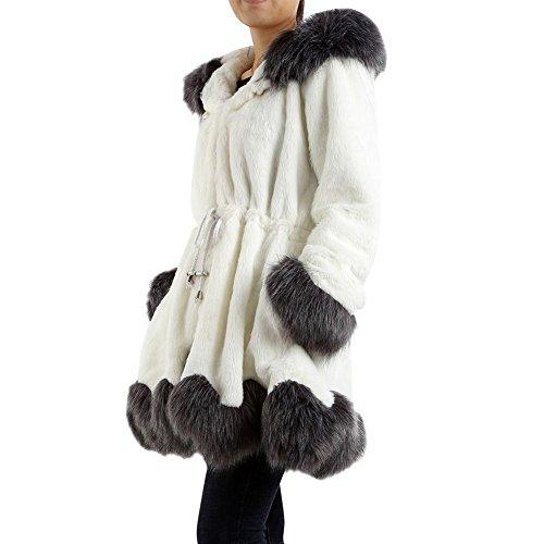 MORESAVE Winter Frauen Faux Fox Pelz Mantel Luxux Lange Gefälschte Pelz Jacken Outwear (Fox Gefälschte)