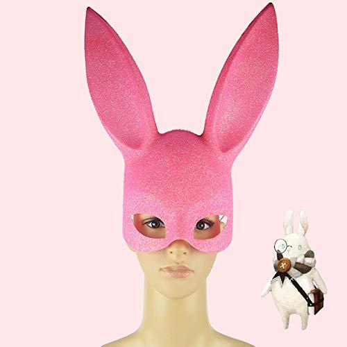 Kostüm Rosa Monster Kleine - DYG Maske, Damen und kinderkaninchen Maske kostüm zubehör one sizerole Spielen, Halloween Party, etc,Rosa,A