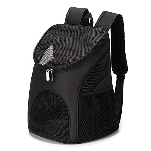 Petsmat Hunderucksack Haustier Katze Tragetasche Faltbar Haustiertragetasche Atmungsaktive Haustier Rucksack Outdoor Reise für Hunde und Katzen,Black