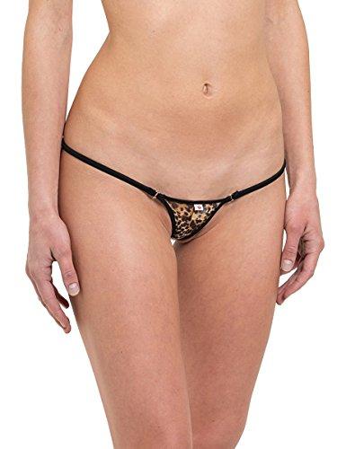 SKINSIX Damen Bikini BWU 110 mesh Leopard g-string, L