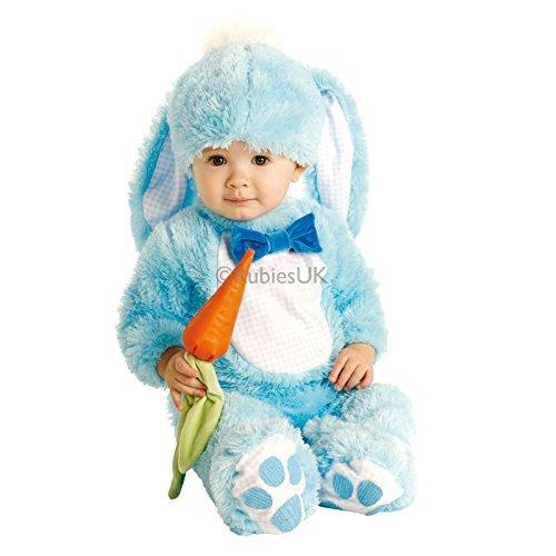 rosa oder blau Osterhase Halloween Kostüm Kleid Outfit - Blau, 12-18 Monate (Passende Baby-und Kleinkind-halloween-kostüme)