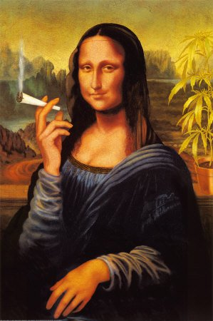 Mona Lisa La Joconde Joint -Grande affiche PAPIER- poster - Dimensions 91.5 x 61 cm (environ)