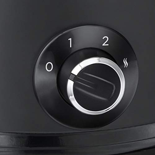 Russell Hobbs 24180-56 - Olla de cocción lenta, 3 Temperaturas, 3.5 L, revestimiento tipo pizarra, negro mate