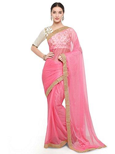 Sarees World Women's Clothing Sarees (Julie Pink)