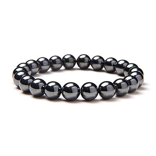 SUNNYCLUE Sparkling Synthetik Hämatit Edelsteine Heilung Armband Stretch Perlen rund 8 mm über 7