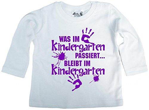 Dirty Fingers, Was im Kindergarten passiert, Jungen T-Shirt langärmlig, 2-3 jahre, Wei? (T-shirt Kinder Passiert)