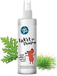 Captain Zack Tick'et to Fleadom Dry/Waterless/Spray Dog Shampoo to Repel Tick, Flea, Larvae & Lice, Easy t