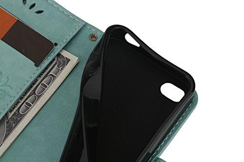 iPhone 4S Hülle,iPhone 4S Case [Scratch-Resistant],iPhone 4S Hülle, ISAKEN iPhone 4S Ultra Slim Perfect Fit Kreativ Design Liquid Fließen Flüssig Schwimmend Love Herz der Liebe Bling Luxus Shiny Glanz Schmetterling Grün