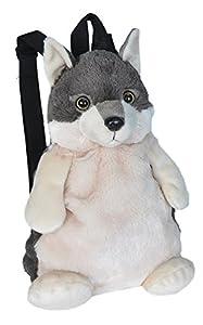 Wild Republic- Felpa de Lobo en Forma de Mochila, Juguete para niños 36 cm, (20991)