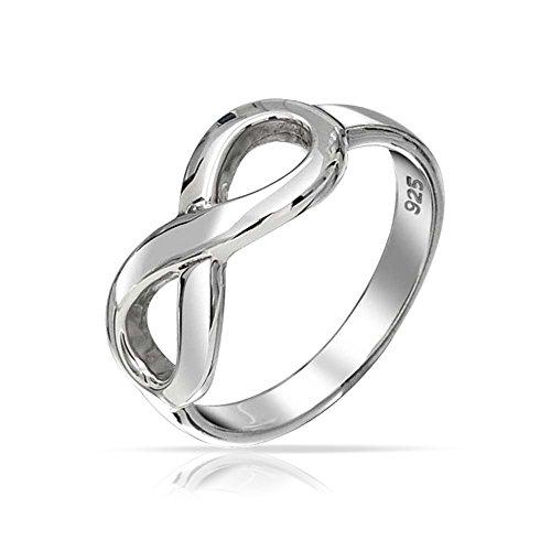 Beste Freunde Bff Liebe Knoten Unendlichkeit Band Ring Für Freundin Für Jugendlich Oxidiert 925 Sterling Silber