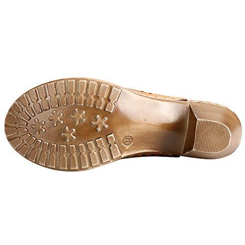 Alexis Leroy Scarpe Sandali peep toe con tacco e fibbia donna Nebro