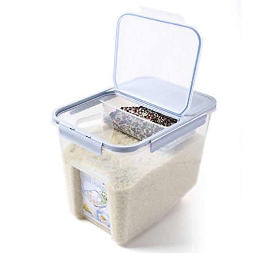 Reis Box, CT-Tribe Vorratsbehälter Aufbewahrungsboxen Reis Eimer Haushalt Küche Getreide Lebensmittel Reis Pasta Behälter Reis Abfalleimer 10KG - Blau