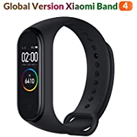 "Original Xiaomi Band 4 (Global Version) Fitness Tracker Newest 0.95"" Color AMOLED Display Bluetooth 5.0 Smart Bracelet Heart Rate Monitor 5 ATM Waterproof Android & iOS 20 Days Battery Life (Black)"