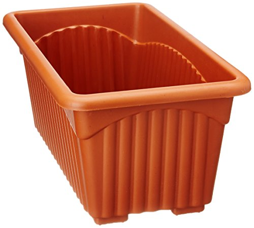 Easy Gardening Royal 2 Rectangle Pots - Terracotta Color Planter (Pack of...
