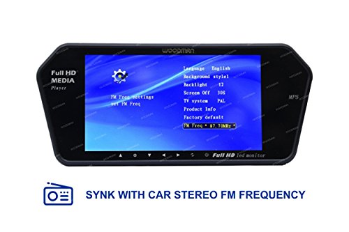 Woodman 7SLEDC 7-inch Car LED Screen with USB and Bluetooth (Black)