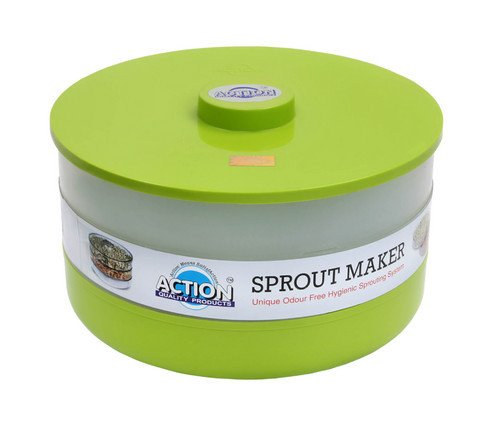 Action Sprout Maker Germinator (Unique Odour Free Hygienic Sprouting System) (2 Tier) VARIOUS COLOURS Test