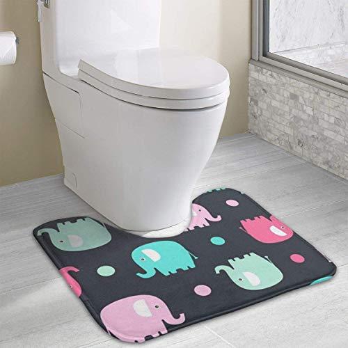 Hoklcvd Elefant Rutschfeste kontur badematte für Toilette saugfähiges Wasser perfekt für Badezimmer Kaufen Sie Badematten online zu den besten Preisen