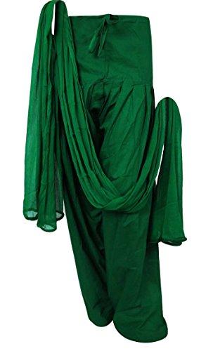 Indianbeautifulart Chiffon Dupatta Ready Made Salwar aus reiner Baumwolle Frauen indische Kleidung Verstellbare Hosen Salwar Hose