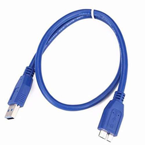 Liqiqi USB 3.0 Typ A Stecker auf Mikrofon B Stecker Verlängerungskabel Adapter, D, 0,3 m