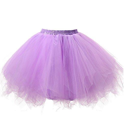 Honeystore Damen's Tutu Unterkleid Rock Abschlussball Abend Gelegenheit Zubehör Lavendel