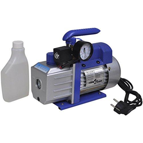 vidaXL 71L/min Vakuumpumpe 1-stufig Unterdruckpumpe Messuhr Pumpe Klimaanlagen -