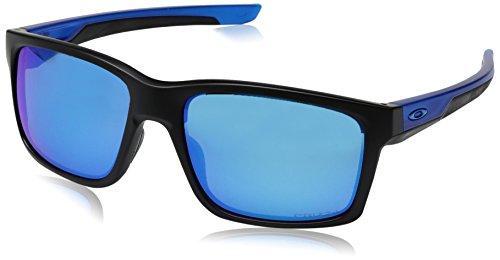Oakley Herren Mainlink 926425 57 Sonnenbrille, Schwarz (Matte Black/Prizmsapphirepolarized),