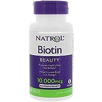 Natrol Biotin 10,000mcg (10mg (10,000mcg), 100 Vegetarian Tablets)