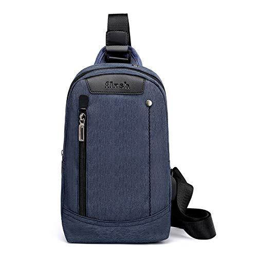 XUEQQ Brusttasche Brust Tasche männlichen Crossbody Tasche einzigen Schultertasche Canvas Tasche Anti-Diebstahl-Rucksack Outdoor Sport wasserdicht Handtasche FEMA Le-Bag USB-Ladekabel