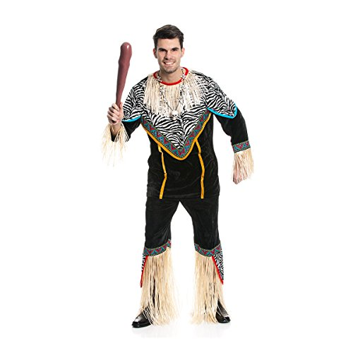 Kostümplanet® Afrikaner-Kostüm Herren Afrika-Kostüm Größe 48/50 Afrika Und Die Afrikaner