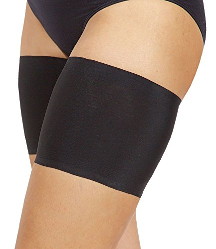 "Bandelettes Unisex Elastic Anti-Chafing Thigh Bands, Black Size E (73-76 cm/29""- 30"")"