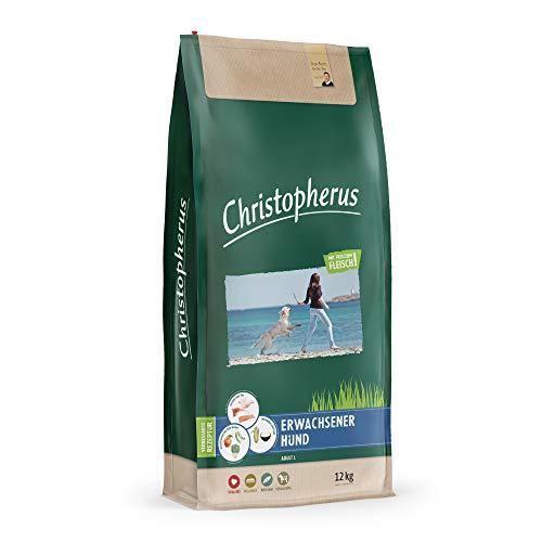 Christopherus Hundetrockenfutter mit Frischem Fleisch für Erwachsene Hunde Mittlerer bis großer Rassen, 12 kg