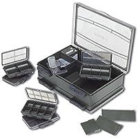 Fox F Box Double Medium Box System Tacklebox, Angelbox 25x27x9cm, Angelkasten für Kleinteile, Zubehörbox