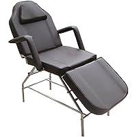 eyepower Lettino Stabile per Massaggi Estetista Fisioterapia ca 185x75x63 cm | 3 Zone con Foro per Viso | Panca Spa Professionale struttura in metallo imbottito | reclinabile | braccioli rimovibili | Marrone