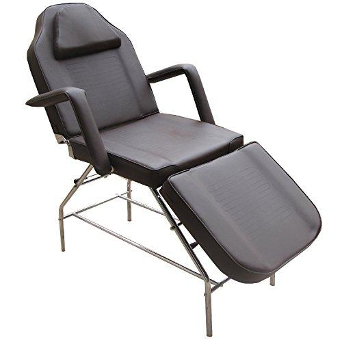 Eyepower Table de Massage fixe 3 zones 185x75x63cm lit cosmétique Marron