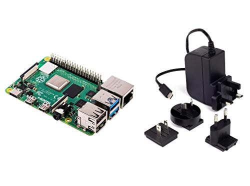 Raspberry Pi 4 Model B 2GB RAM With 5.1V 3A-C USB Power Supply Unit Multinational Power Supply