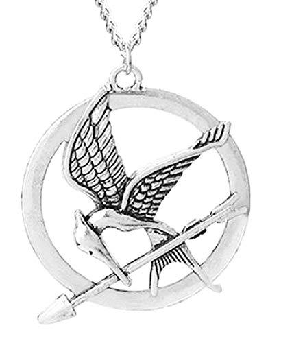 EVRYLON Halskette Ghiandaia Damen Imitatatrice Mocking Bird Hunger Games Film Serie TV Cosplay Schönes Geschenk für Mädchen (Vogel-film Für Kinder)