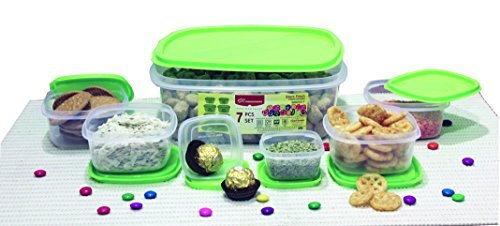 Princeware SF Package Container Set, 7-Pieces, Green
