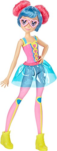 Barbie Mattel DTW06 - Die Videospiel-Heldin Freundin Puppe mit Buntem Haar und Brille, Ankleidepuppen-Zubehör (Barbie-puppe Brille)