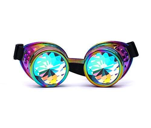 zaiqun Vintage Steampunk Brillen Multicolor Objektiv Kupfer Messing Schweißen Gläser, mehrfarbig
