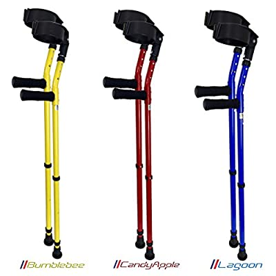 Vilgo 'Style' Closed Cuff Double Adjustable Colourful Crutches