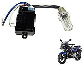 Auto Hub LED Bulb Light for Bajaj Pulsar 220 F (Silver)